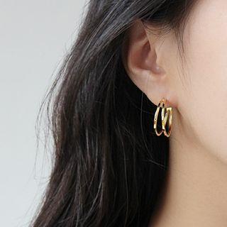 Phoenoa - 925纯银双层开口圈环耳环