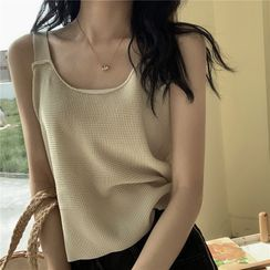 Guajillo - Plain Knitted Camisole Top