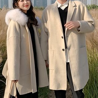Ink Brush - Couple Matching Button-Up Coat