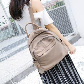 Annmuu - Canvas Zip Backpack