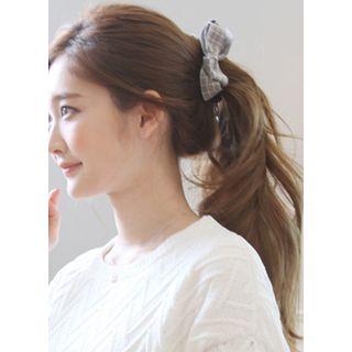 kitsch island - Checked Bow Hair Clamp