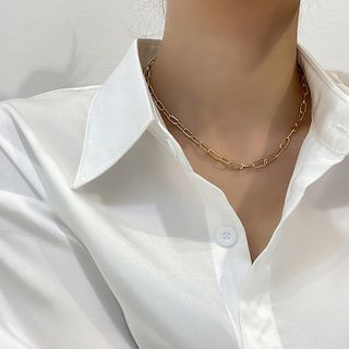 Foreflow - Gold-Plated Alloy Necklace