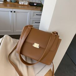 Perlin - Faux Leather Flap Crossbody Bag