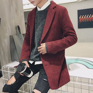 Alvicio - Notch-Lapel Single-Breasted Coat