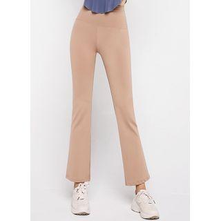 Styleonme(スタイルオンミー) - Slit-Side Boot-Cut Yoga Pants