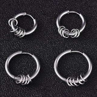 Soosina - Stainless Steel Hoop Earring