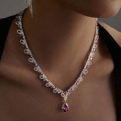 Koocac - Rhinestone Necklace
