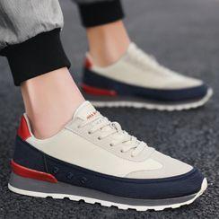 Chaoqi - 厚底拼接休閒鞋