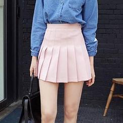 Jolly Club - Pleated Mini Skirt