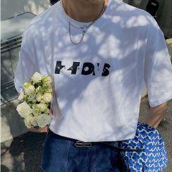 BANGBOY - Short-Sleeve Lettering T-Shirt
