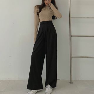 Ginger Girl - Wide Leg Dress Pants