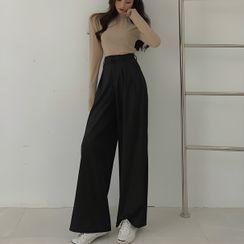 Ginger Girl - Pantalones de vestir de pernera ancha