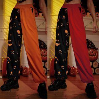 blossomgal - Halloween Pumpkin Print Pants