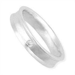 Keleo - Tailor-made 18K White Gold Ring with Diamonds