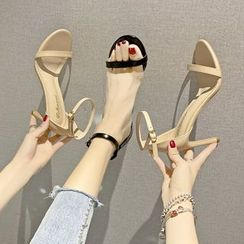 Raylove - High-Heel Ankle-Strap Sandals