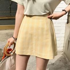 monroll - Minifalda de cuadros