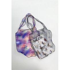 SIMPLY MOOD - Dyed See-Through Mesh Shopper Bag