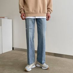 Seoul Homme(ソウルオム) - Slashed Wide-Leg Jeans