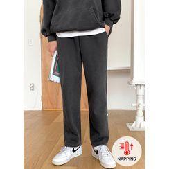 JOGUNSHOP - Drawstring-Waist Fleece-Lined Sweatpants