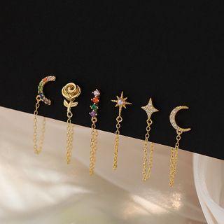 Zatanna - Rhinestone Dangle Earring