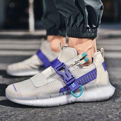 Auxen - Zip Platform Sneakers