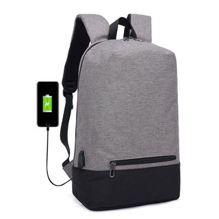BAGSHOW - USB Port Laptop Backpack