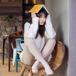 MEIA - 纯色袜裤