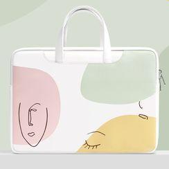 BAGGEST - Print Faux Leather Laptop Bag (various designs)