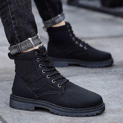 Redrunner - 厚底粗跟繫帶短靴