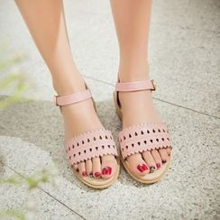 Shoes Galore - Perforated Sandals