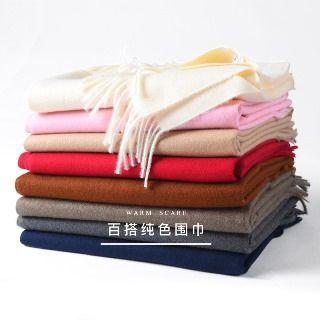 羚羊早安 - 流蘇純色圍巾
