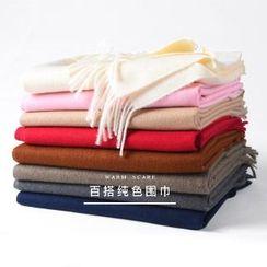 羚羊早安 - 流苏纯色围巾