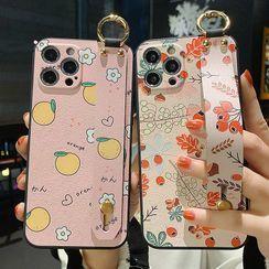 Pixel Dream - Fruit / Flower Hand Strap Phone Case - iPhone 12 Pro Max / 12 Pro / 12 / 12 mini / 11 Pro Max / 11 Pro / 11 / SE / XS Max / XS / XR / X / SE 2 / 8 / 8 Plus / 7 / 7 Plus