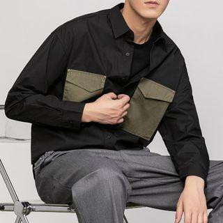 Orizzon - Long-Sleeve Contrast Pocket Shirt