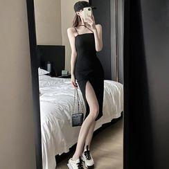 Jeans Kingdom - Strappy Midi Sheath Dress