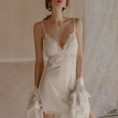 Chrissie - Lace Panel Nightdress / Robe / Set