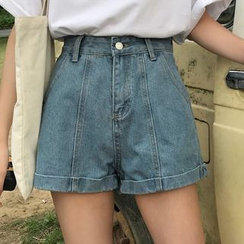 Melon Juice - High-Waist Denim Shorts