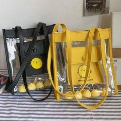 OUCHA - 鴨子印花PVC手提袋