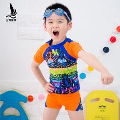 SANQI - 小童印花游泳套装