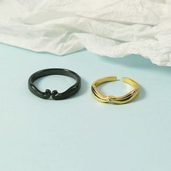 Forainer - Couple Matching Open Ring