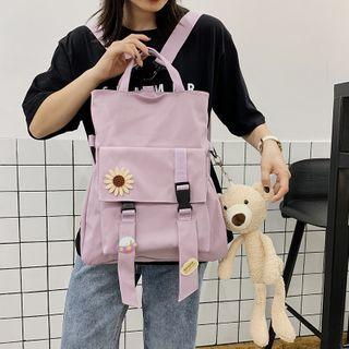 Beamie - Plain Top Handle Snap Buckle Backpack / Bag Charm