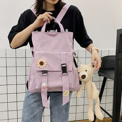 Beamie(ビーミー) - Plain Top Handle Snap Buckle Backpack / Bag Charm