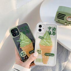 Vachie - Ice Cream Print Phone Case - iPhone 11 Pro Max / 11 Pro / 11 / XS Max / XR / X / XS / 7 Plus / 8 Plus / 7 / 8 / SE