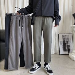 FOEV - Cropped Straight-Fit Pants