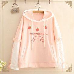 Kawaii Fairyland - 草莓刺绣连帽衫