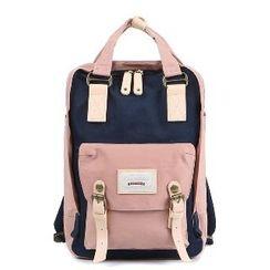 Asphalt - Color-Block Buckled Backpack