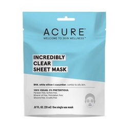 ACURE - Incredibly Clear Sheet Mask (Combo To Oily Skin)
