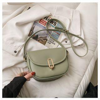 BAGSHOW(バッグショウ) - Faux Leather Flap Crossbody Bag
