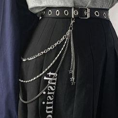 CIMAO - 仿皮腰帶 / 多層腰鏈條 / 套裝