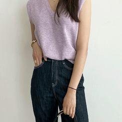 NIPONJJUYA(ニッポンチューヤ) - V-Neck Rib-Knit Vest